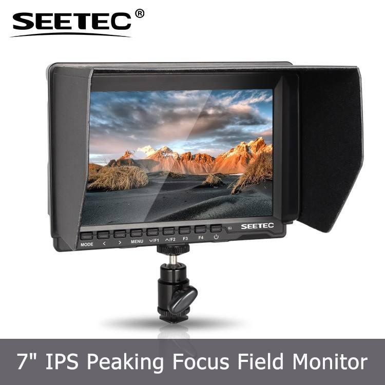 Fino e leve peso 7 polegada hdmi exibição camera histograma 1280 x 800 resolução do monitor lcd sucata