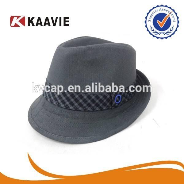 de fieltro de lana de ala redonda trilby sombrero de fieltro de gángster sombrero