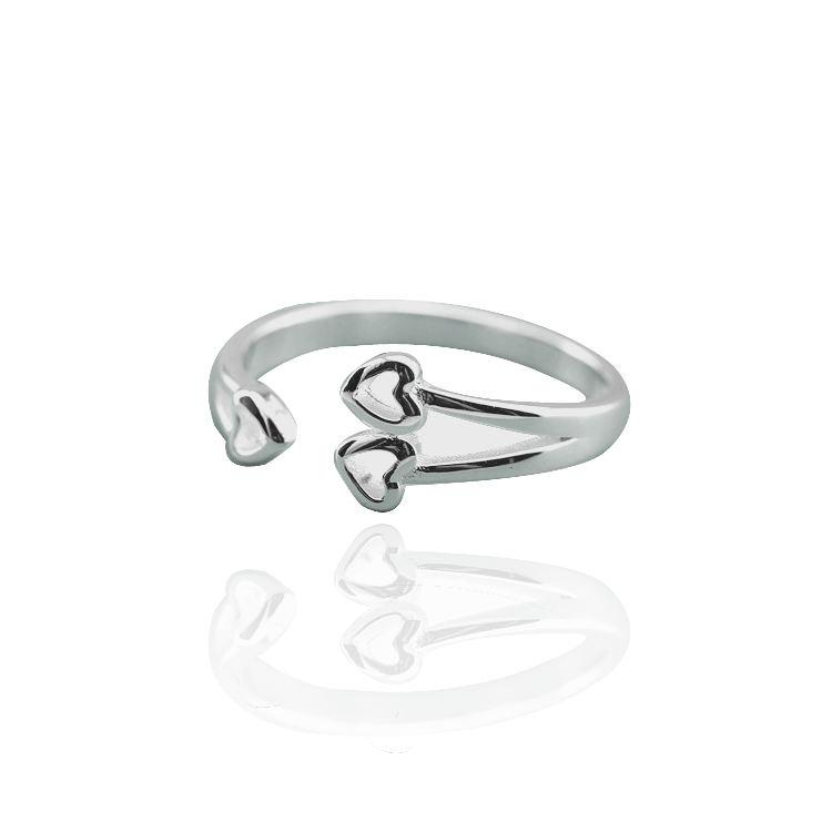 Hot nouveaux produits en chine des bijoux en vrac nouveauté articles en argent pur petit coeur anneau New Style anneau ouvert bijoux anneaux de mode