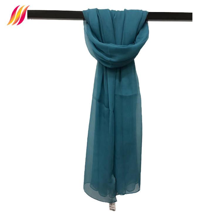 Nuevo diseño elegante dama pañuelo ligero de seda vintage de seda bufanda