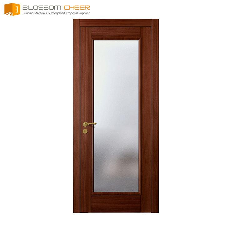 Contemporain acajou bois porte d'entrée kerala modèles de portes en bois porte marine