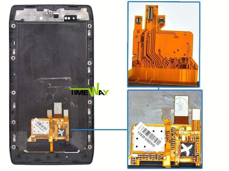 China lieferant für motorola razr maxx xt910 LCD-Bildschirm( mit Rahmen)