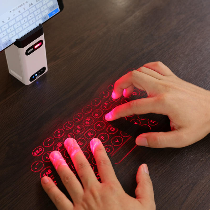 BT virtual laser keyboard Portable Wireless Projection mini keyboard for computer mobile smart Phone With Mouse function