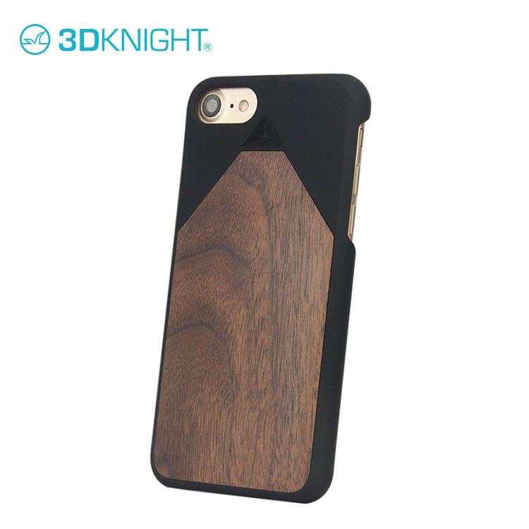 Madera de nogal Teléfono Celular del diseño cubre para el iPhone 7 protector para luz y madera dura