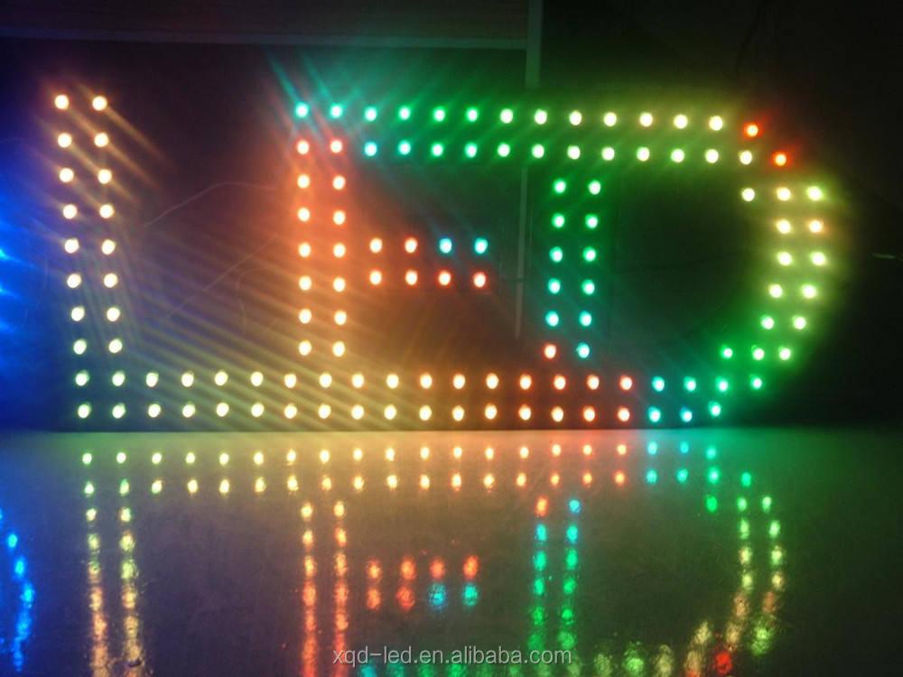 12mm WS2811 RGB 50 adet dize IP68 DC5V tam renkli LED Piksel