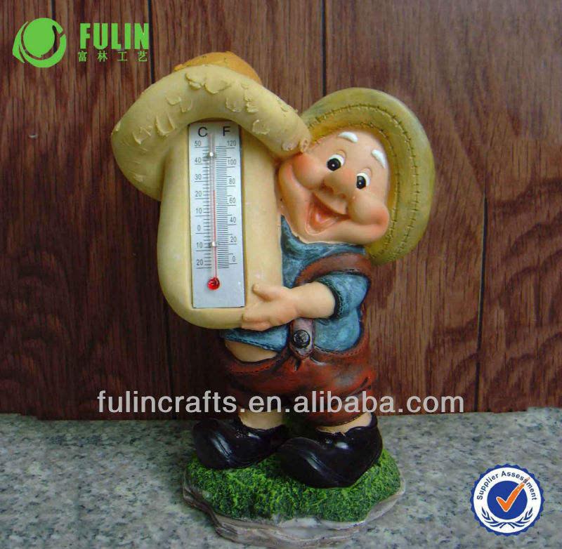 樹脂妖精有用な屋内温度計クラフト