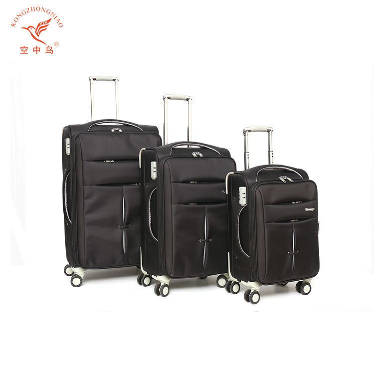 3 pièce voiture voyage carryon bagages ensemble de luxe quatre roues sacs