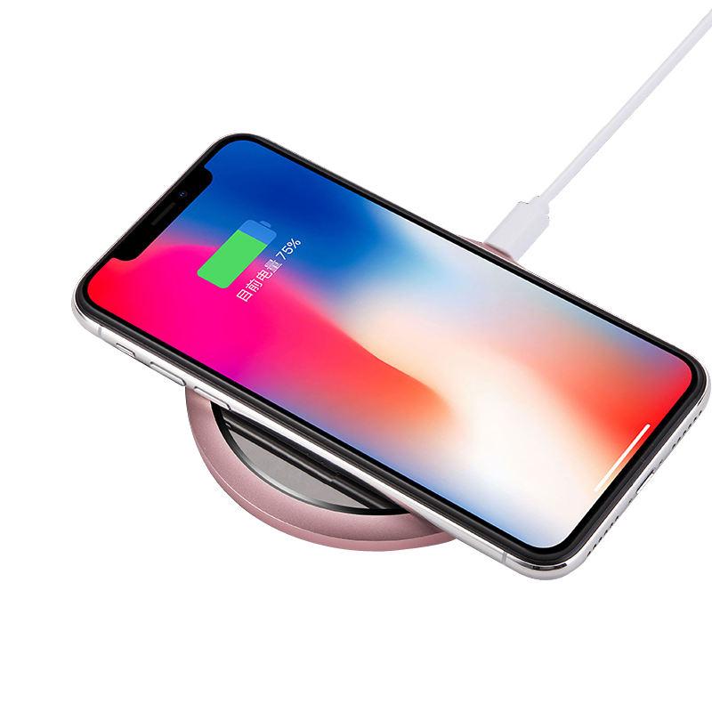 Portable Sans Fil rapide De Charge Chargeur Pad Qi Chargeur Sans Fil pour iPhone X 8 8 Plus pour Samsung Galaxy S8 S7 bord