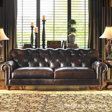 Retro Chesterfield Leather sofa Furniture Modern Living Room Sofas
