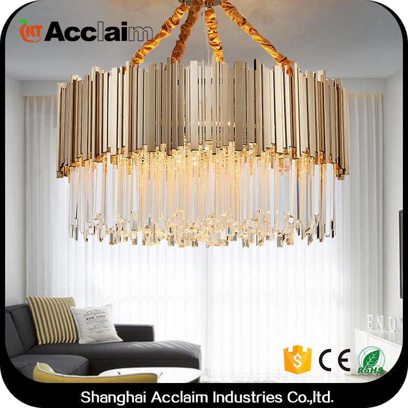 Post-modernidad de partes de bolas de cristal luz lámpara de araña de cristal de iluminación de techo para comedor