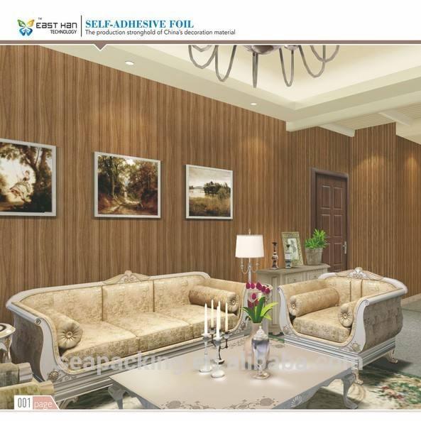 الخشب الطبيعي 3d الفينيل الذاتي لاصق ورق الحائط لتزيين المنزل