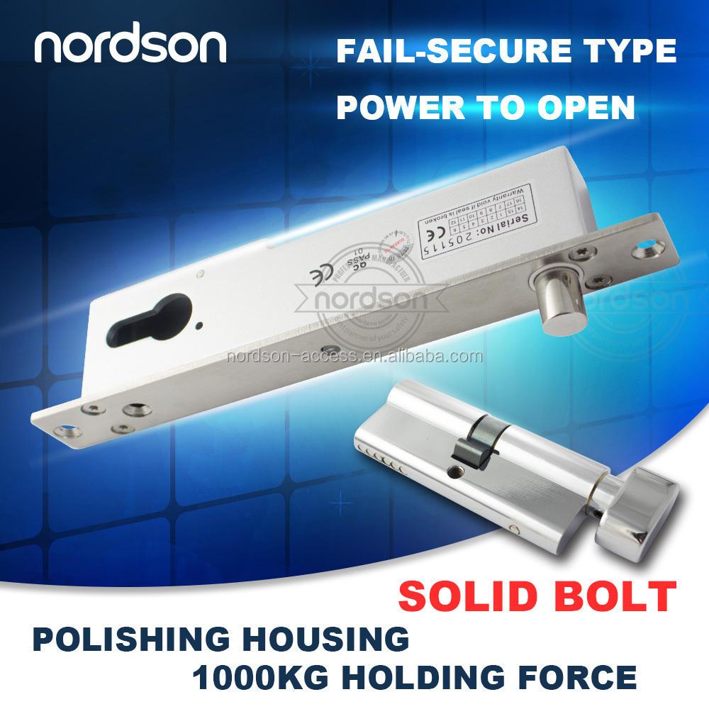 Cerradura eléctrica <span class=keywords><strong>del</strong></span> gabinete 12V que trabaja la energía Cerraduras eléctricas <span class=keywords><strong>del</strong></span> <span class=keywords><strong>perno</strong></span> cerrado para la puerta frameless