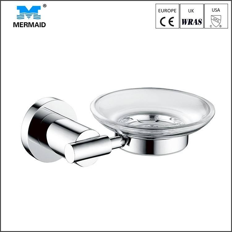 Venta caliente accesorios de baño de cristal de la vendimia plato de jabón para el aseo