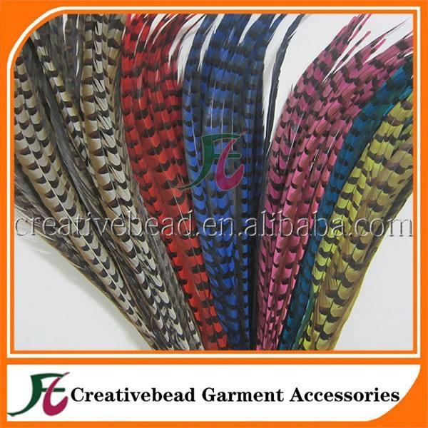 Teints dames Amherst queues de plumes de faisan approvisionnement d'usine faisan naturel plume pour carnaval ou fleur décoration