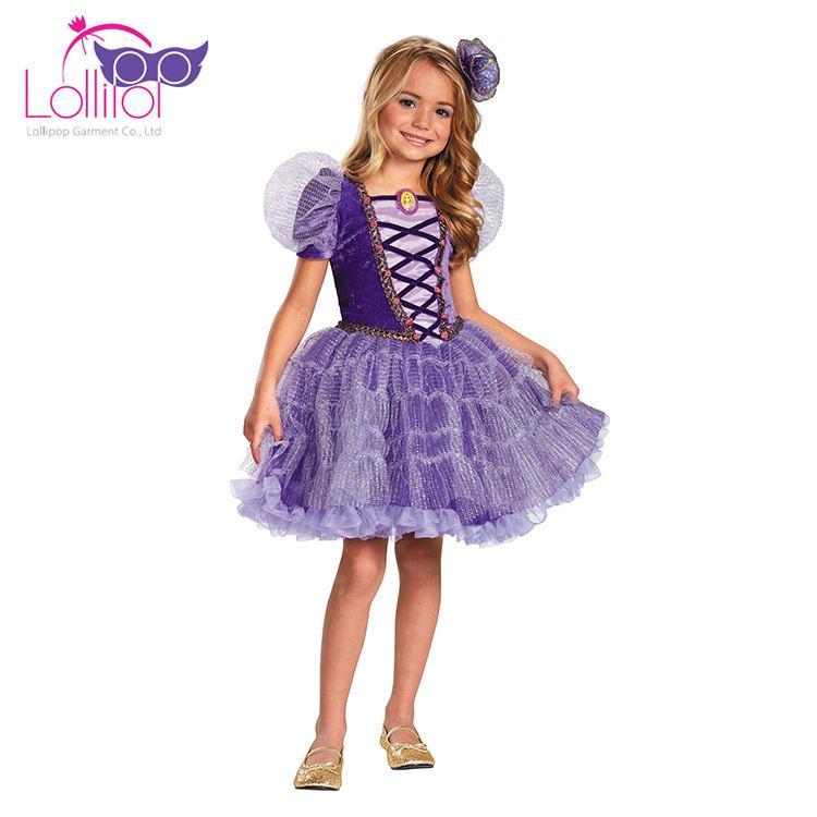 Cadılar bayramı <span class=keywords><strong>karnaval</strong></span> kostüm çin ithalat çocuk kız fantezi elbise kostümler rapunzel prenses kostüm