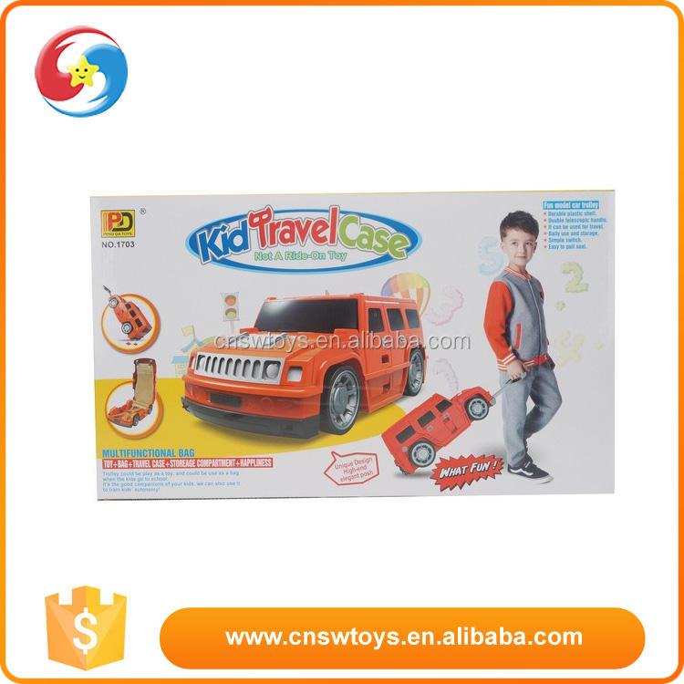Nouveau Style enfants en plastique voyage cas conception de voiture bagages facile prendre valise