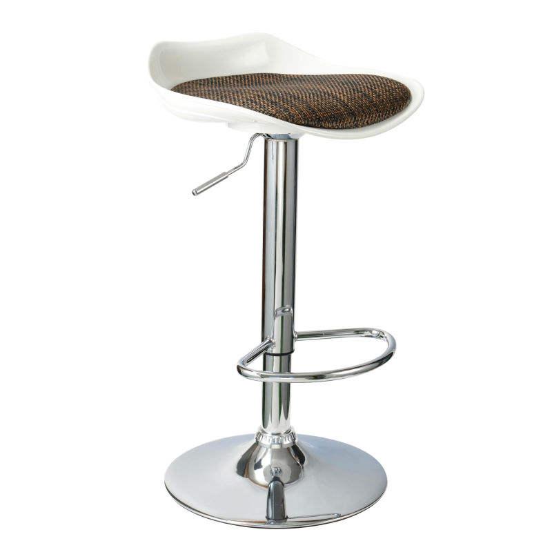 Modernos muebles de compra a granel de china PVC + ABS + Esponja silla taburete de la barra giratoria ajustable