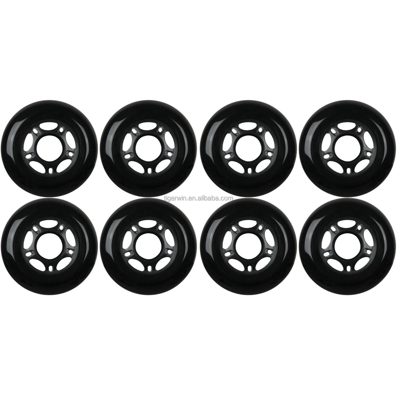 مخصصة عالية الجودة مضمنة rollerblade تزلج عجلة متعددة حجم ولون الخيارات المتاحة عجلة 72*24 ملليمتر 76*24 ملليمتر 80*24 ملليمتر