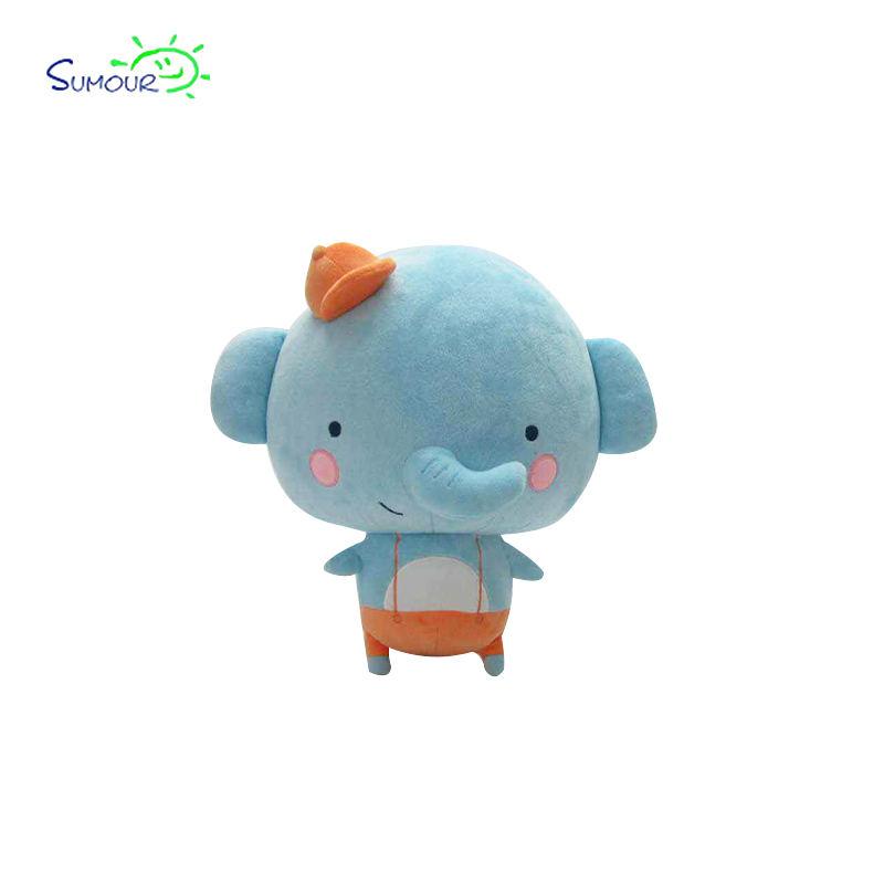 Vendita caldo e bello divertente blue elephant peluche produttore in cina