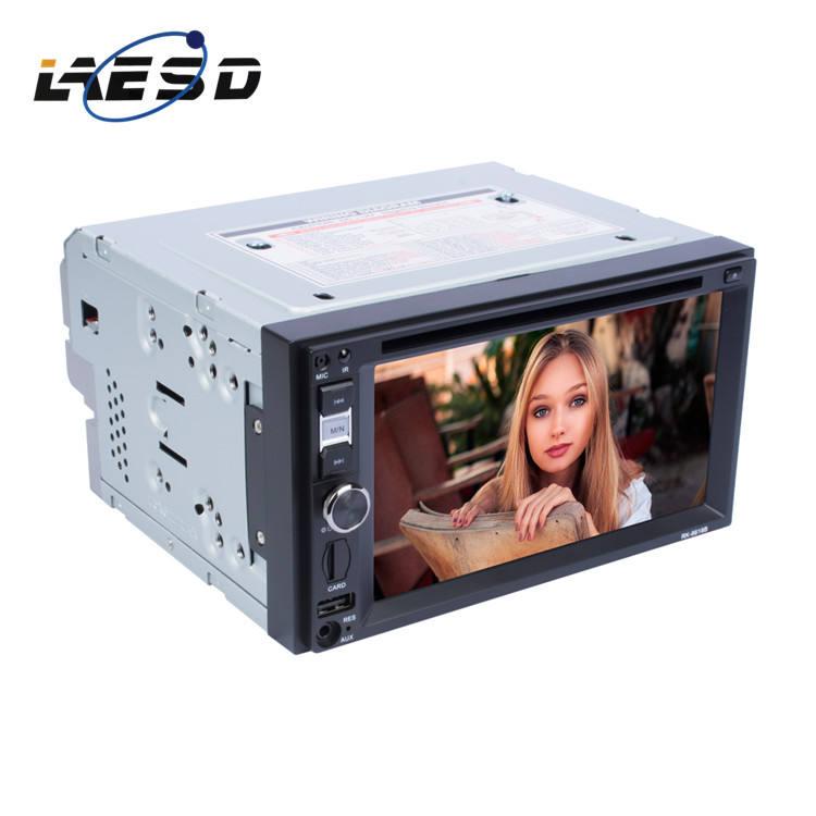 De alta definición de 6,2 pulgadas doble DIN reproductor de DVD estéreo de coche con CD de puerto y de Control de volante