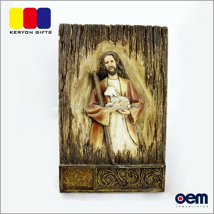 2017 Nuovo Disegno <span class=keywords><strong>Gesù</strong></span> Decorazione Della Tavola Resina Statue Religiose