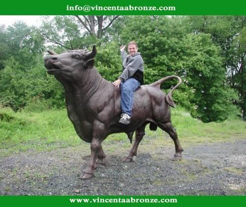 2015 Hot sale home decor touro escultura de bronze