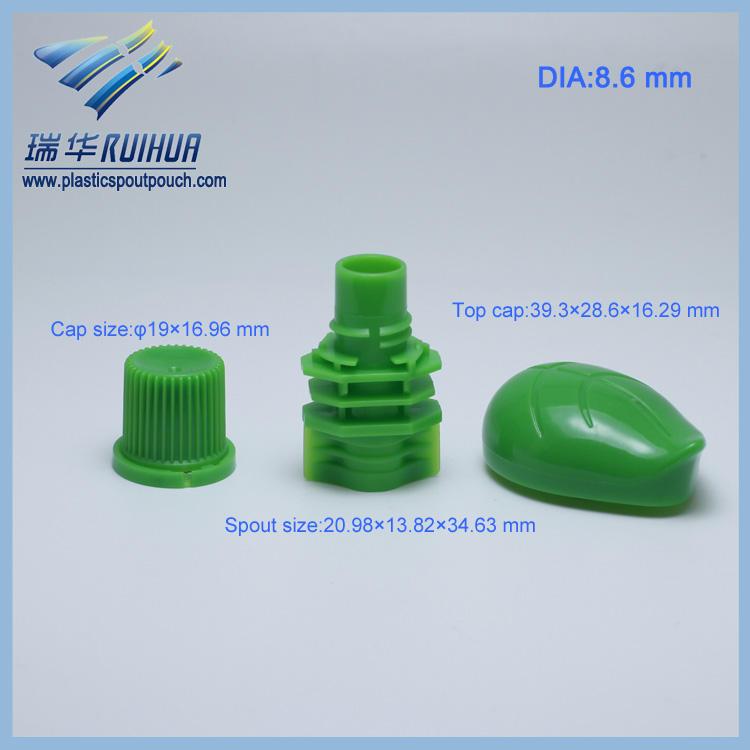 Forma de folha China fornecedor plástico parafuso da tampa cap
