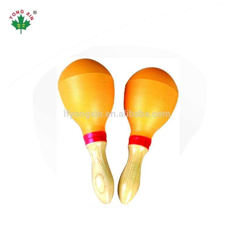 Costumbre mexicana Musical enseñanza plástico colorido amarillo instrumento musical maracas para niños