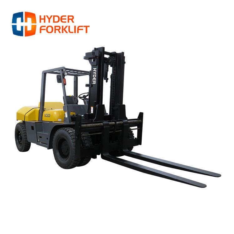 Productos al por mayor de la nueva era 8 toneladas 10 toneladas cuatro ruedas carretilla elevadora diesel