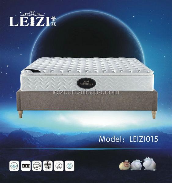 Painéis laterais respirável barato colchão de esponja/3d céu azul pillow top colchão