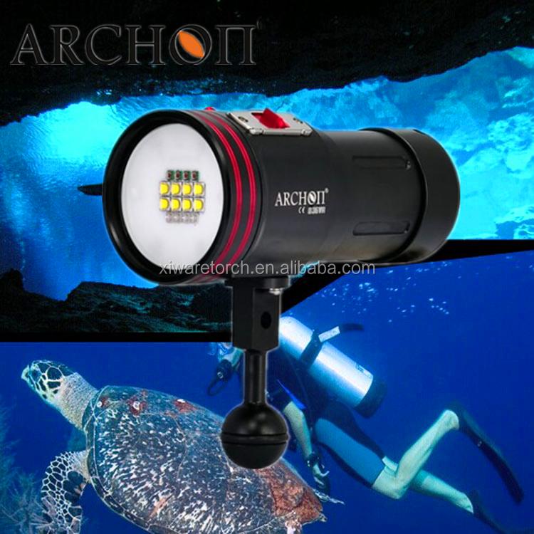 ハイパワーmr光とトーチを導いたce・rohs指令水中ビデオフラッシュライト中国のサプライヤー