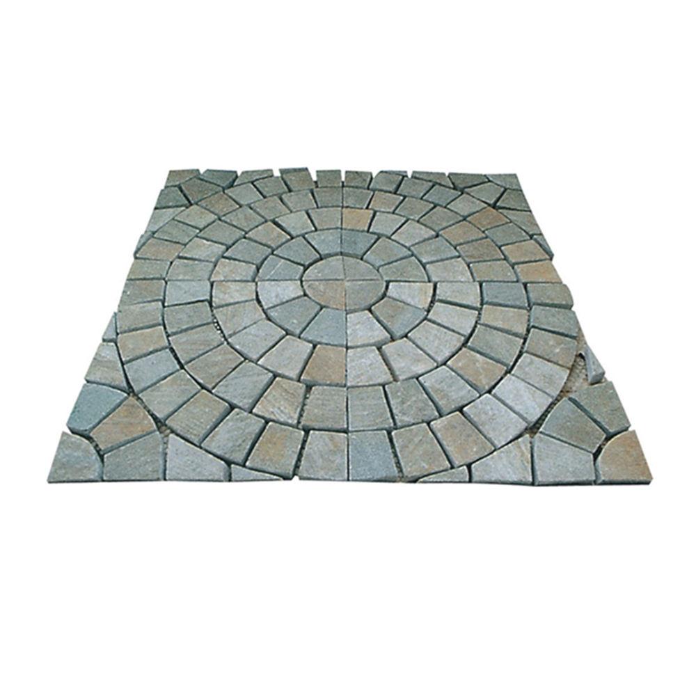 Outdoor pazione lastricato naturale grigio pavimento di pietra piastrelle pattens