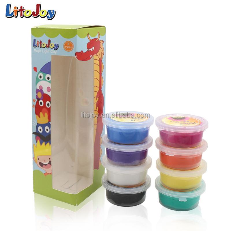 8 màu hand-làm linh hoạt siêu ánh sáng đồ chơi đất sét