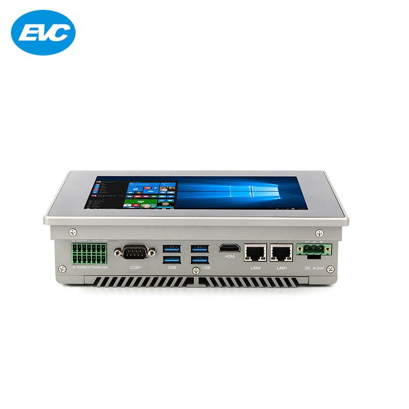 6 COM tela sensível ao toque de 4 USB3.0 industrial incorporado pc painel