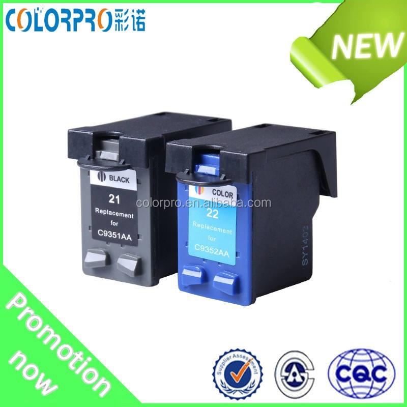 Restablecer para HP 21 cartucho de tinta compatible para HP DeskJet 712, 720, 722, 820, 830