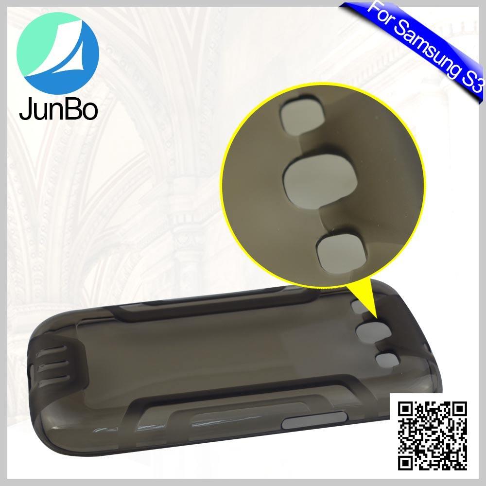 JunBo Durumda Samsung Galaxy S3 I9300 Cep Telefonu için, Samsung S3 için sıcak Satış Yumuşak TPU Durumda