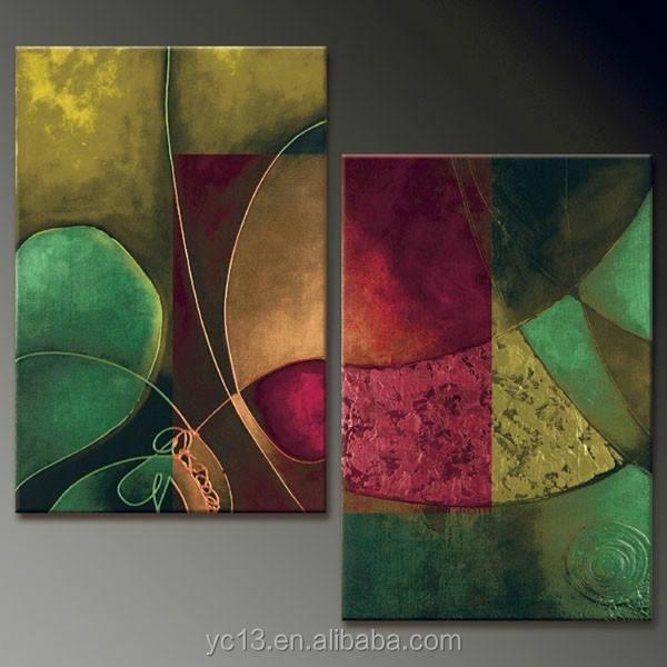 Nueva llegada fuerte decoración efecto pintura de la tela