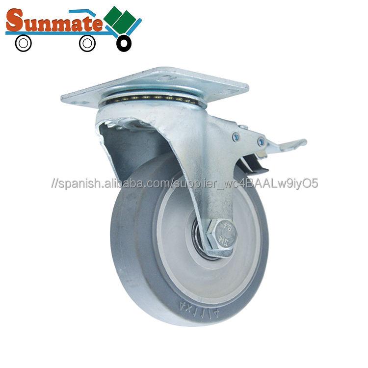 5 pulgadas sandwich PP rueda giratoria rodillo rueda fija