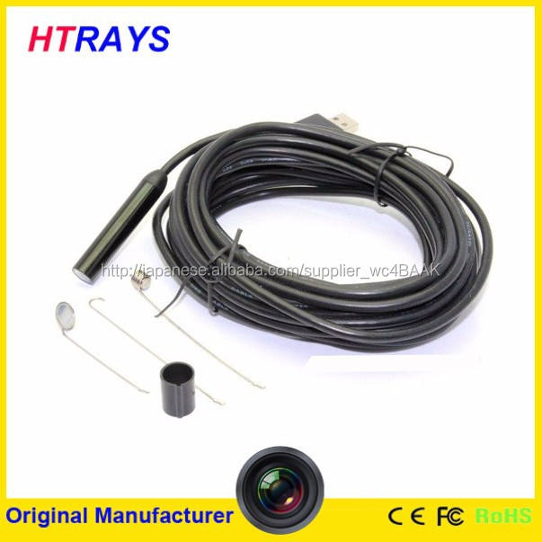 hd720p防水6ledライトusb内視鏡付き検査用カメラ9mm5mヘビケーブル