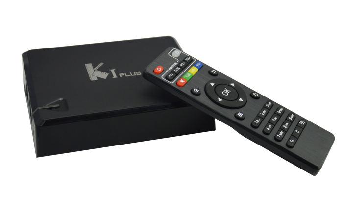 KI Plus sintonizador duplo S905 kodi ott box tv 4 k Quad core DVB T2 dvb s2 K1 além disso android tv caixa