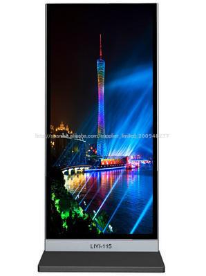 115 pulgadas pantalla de publicidad wifi llevado toque al aire libre/tablero de la publicidad gráfica luz led/publicidad llevado