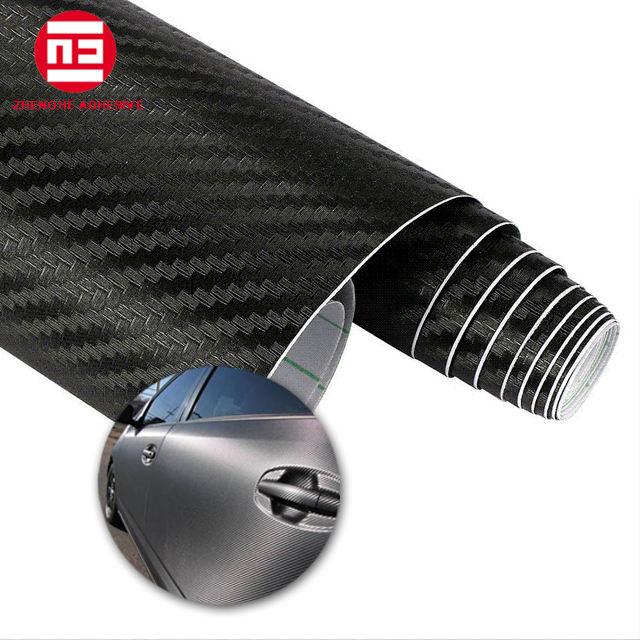 Cina All'ingrosso 1.52*50 m 3D Fibra di Carbonio vinile Adesivo Auto Dell'involucro Del Vinile Per L'automobile Del Corpo
