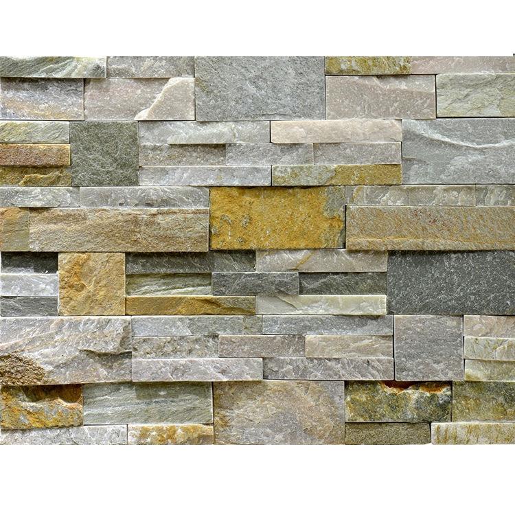Decorazione impilati pietra naturale look mattonelle della parete texture
