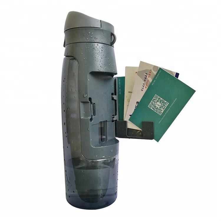 Eco Freundliche Kunststoff Outdoor Brieftasche Sport Wasser Flasche Hat EIN Speicher