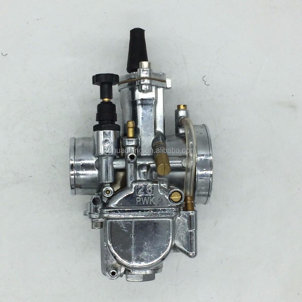 PWK 28 MM Carburateur <span class=keywords><strong>Carb</strong></span> Plat Silde POUR OKO Mikuni ATV Quad Pit Dirt argent couleur