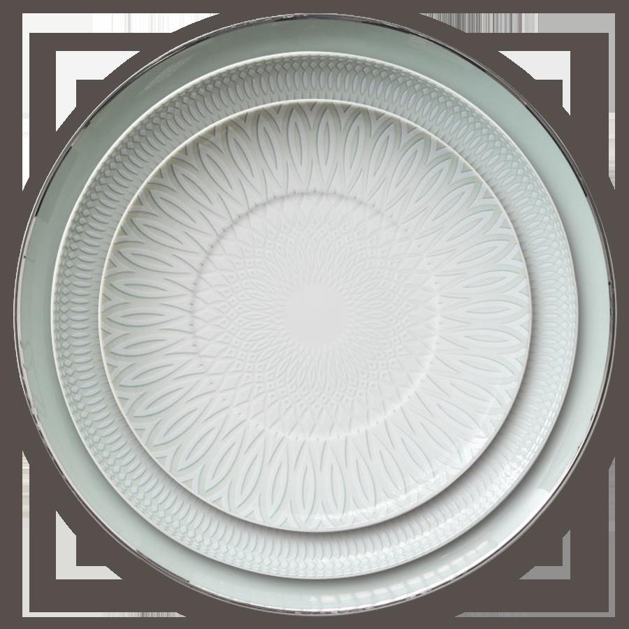 2017熱い販売コレール食器セット結婚式の装飾食器セットボーンチャイナ食器プレート
