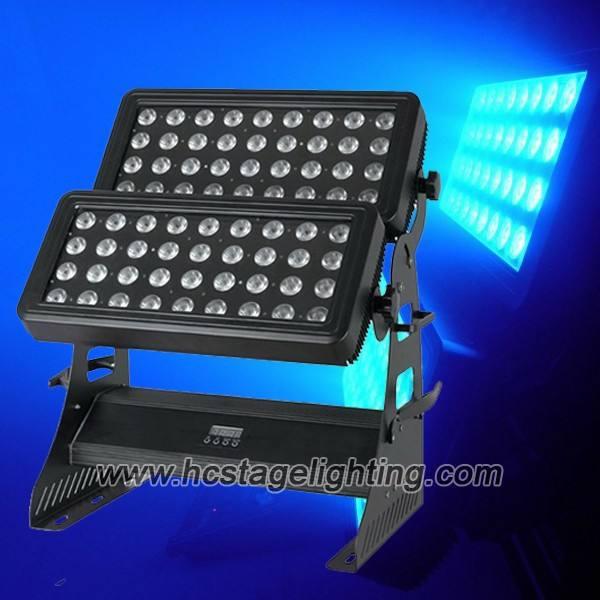 rgbw 72x10watt 4in1 exterior del proyector led de pared de lavado de luces