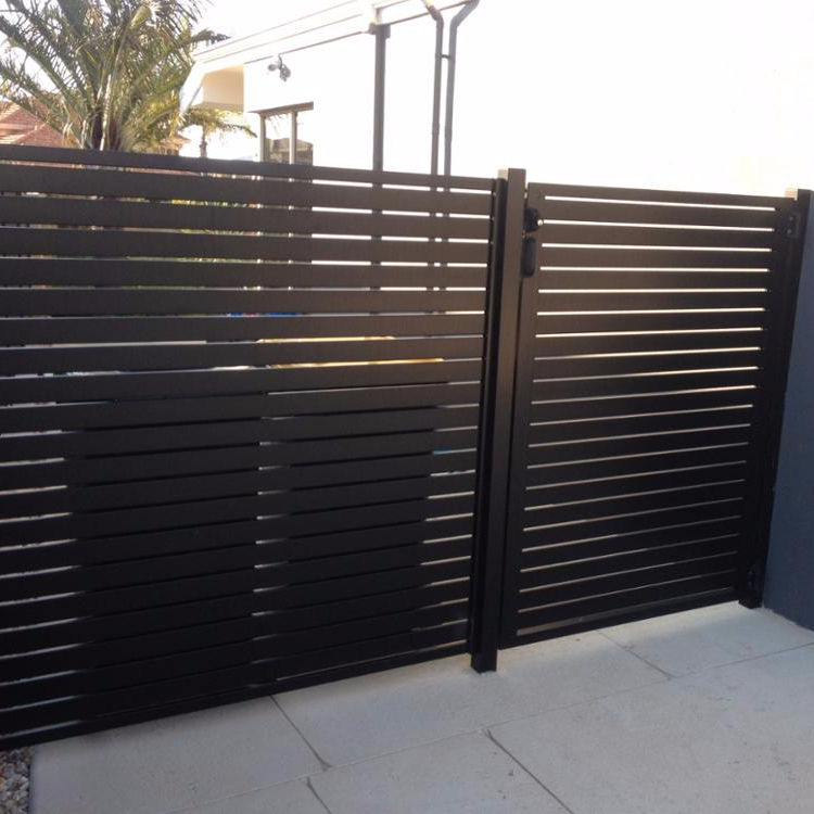Anju factory aluminium slat fence double swing gate