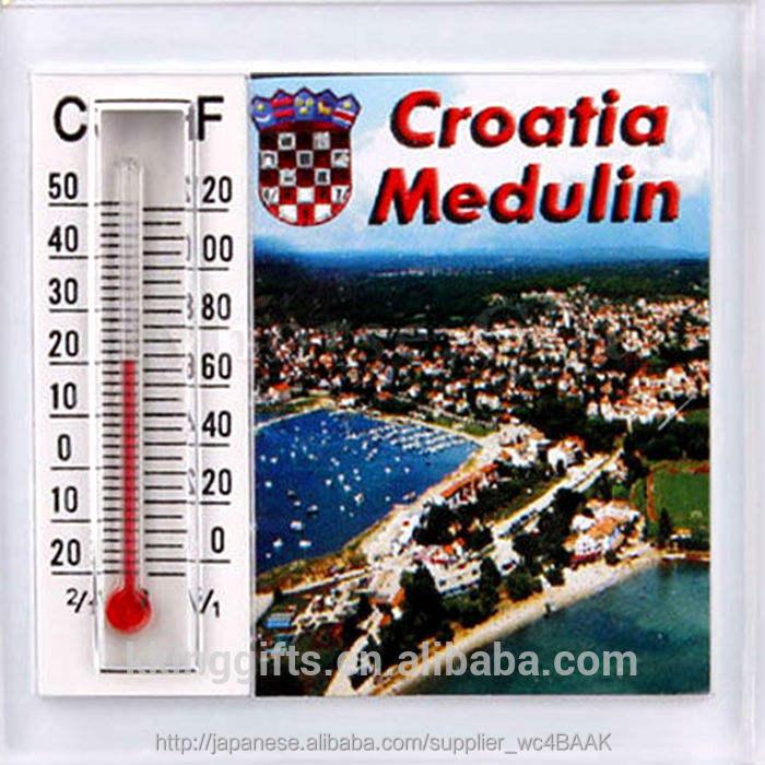 カスタマイズされた風景マグネット自動車用屋外温度計