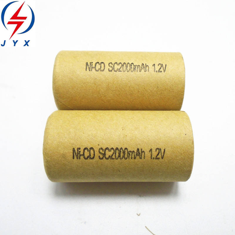 factory wholesale high rate discharge sc 1.2v 2000mah nicd battery for power tool elements